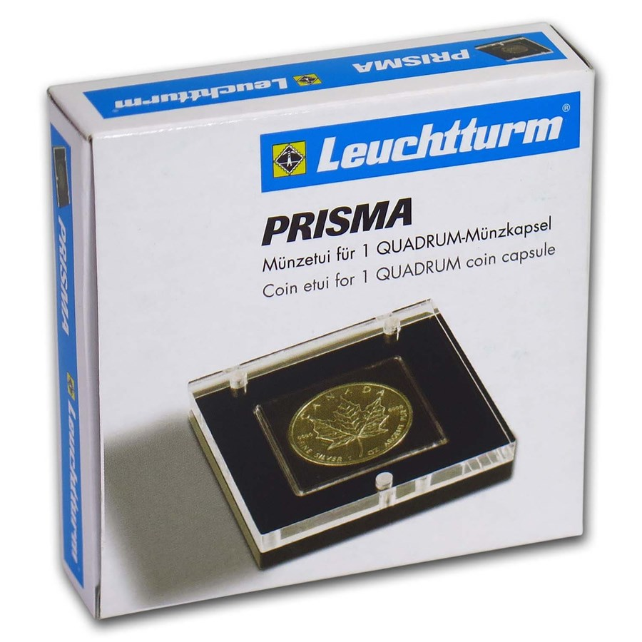 Prisma Coin Display Box w/Acrylic Lid for Quadrum Snaplock Holder