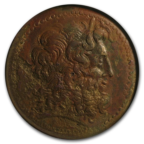 Ptolemaic Bronze AE43 King Ptolemy III (222-205/4 BC) Ch XF NGC