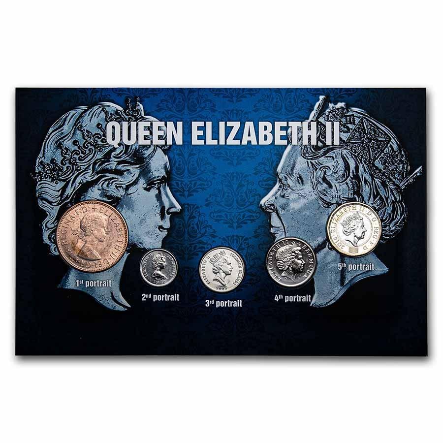 Queen Elizabeth II Coins from Around the World 5-Coin Set BU