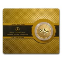 Random Year 1 oz Gold Maple Leaf .99999 BU (w/Assay Card)