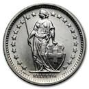 (Random Year) Switzerland Silver 1/2 Franc BU