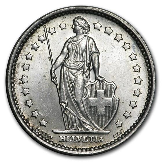 (Random Year) Switzerland Silver 1 Franc BU