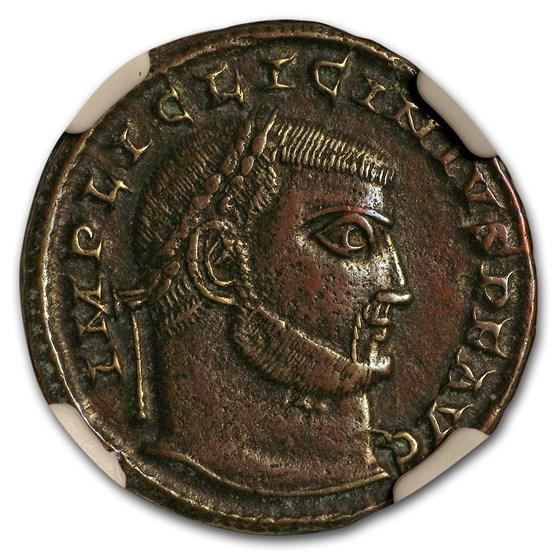 Roman AE Nummus Emperor Licinius I (308-324 AD) XF NGC