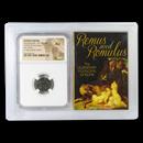 Roman AE Nummus Romulus and Remus (330-340 AD) AU NGC (Vault)