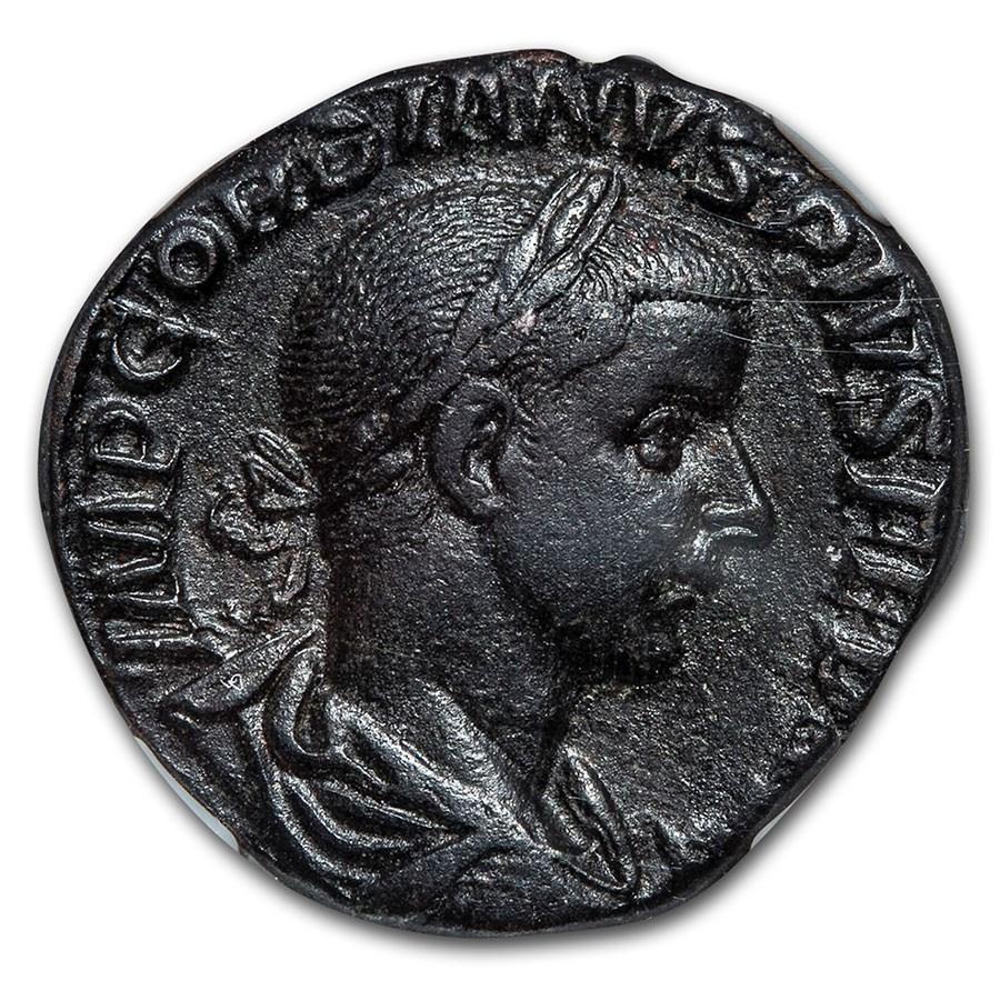 Roman AE Sestertius Gordian III (238-244 AD) XF NGC (RIC IV 297a)