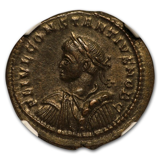 Roman AE3/4 Emperor Constantius II (337-361 AD) Ch AU NGC