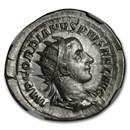 Roman AR Dbl Denarius Emp. Gordian III/Apollo (238-244 AD) MS NGC