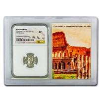 Roman AR Denarius Anton. Pius XF NGC (Colosseum Hoard Vault)