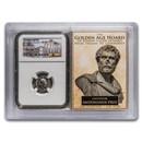 Roman AR Denarius Anton. Pius XF NGC (Golden Age Hoard Vault)