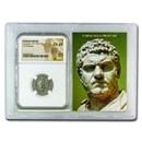 Roman AR Denarius Caracalla (198-217 AD) Ch XF NGC (Vault)