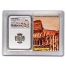 Roman AR Denarius Caracalla AU NGC (Colosseum Hoard Vault)