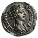 Roman AR Denarius Crispina (177-182/3 AD) Ch AU NGC (RIC III 283)