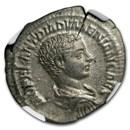 Roman AR Denarius Diadumenian (217-218 AD) Ch XF NGC (RIC IV 117)