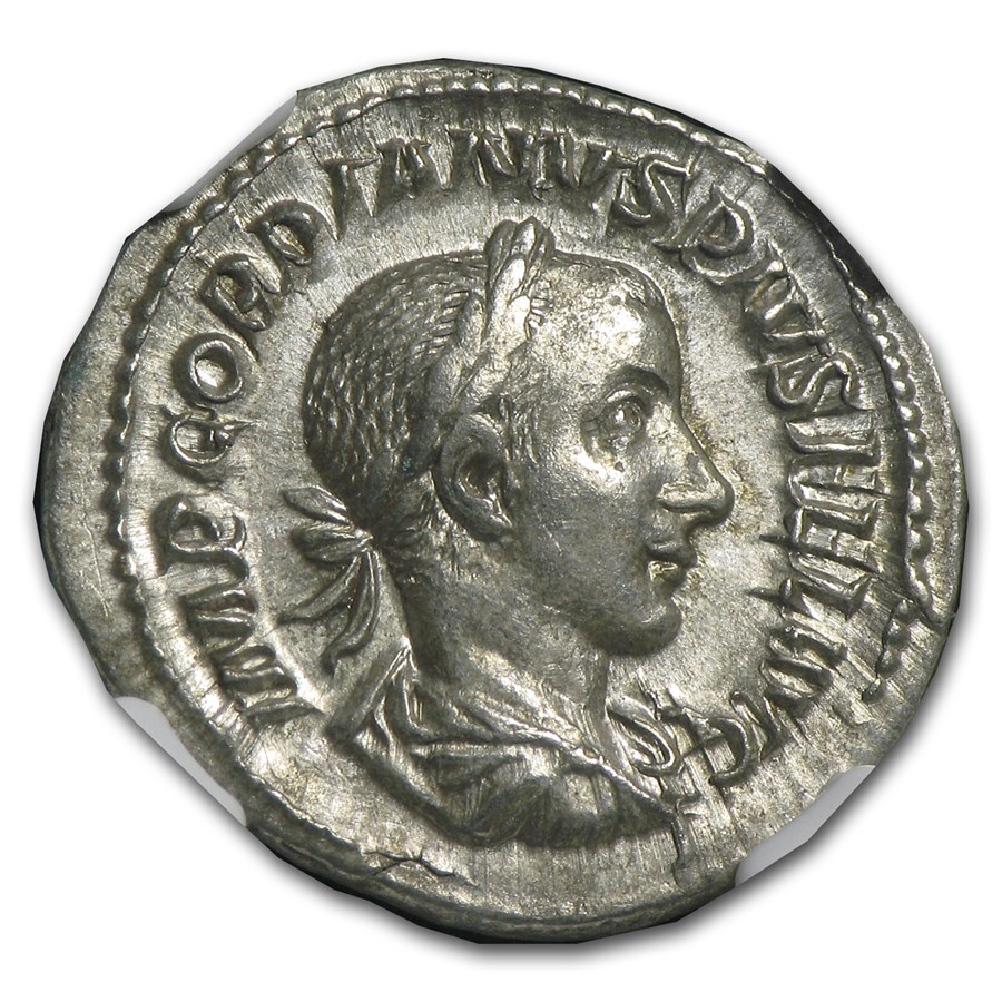 Roman AR Denarius Emp. Gordian III (238-244 AD) Ch-XF NGC