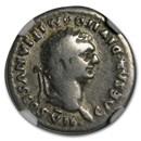 Roman AR Denarius Emperor Domitian (81-96 AD) Fine NGC