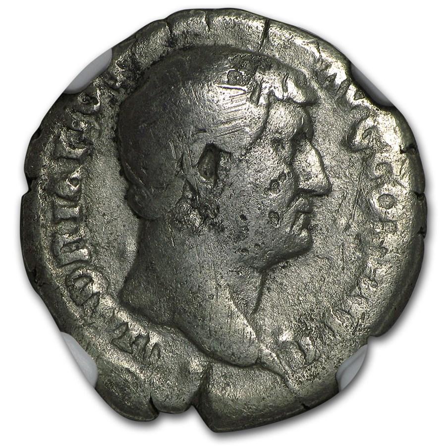 Roman AR Denarius Emperor Hadrian (117-138 AD) Fine NGC