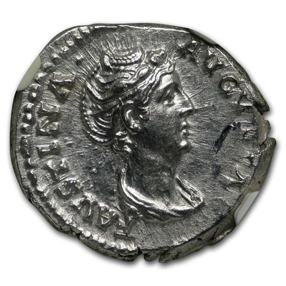 Roman AR Denarius Faustina Sr. (138-140/1 AD) MS NGC