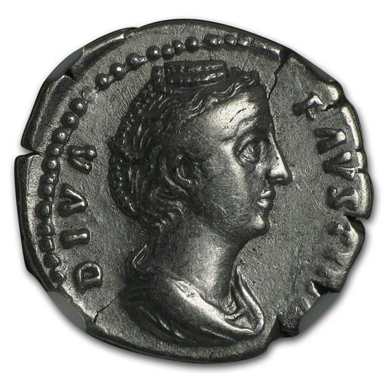 Roman AR Denarius Faustina Sr. (138-140/1 AD) XF NGC (Vault)