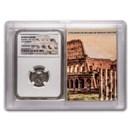 Roman AR Denarius Hadrian XF NGC (Colosseum Hoard Vault)