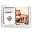 Roman AR Denarius Marcus Aurelius AU NGC (Colosseum Hoard Vault)