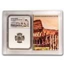 Roman AR Denarius Sev. Alexander XF NGC (Colosseum Hoard Vault)