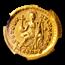 Roman AV Solidus Theodosius II/Constantin. (402-450 AD) AU NGC