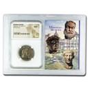 Roman BI Nummus Galerius (305-311 AD) AU NGC (Vault)
