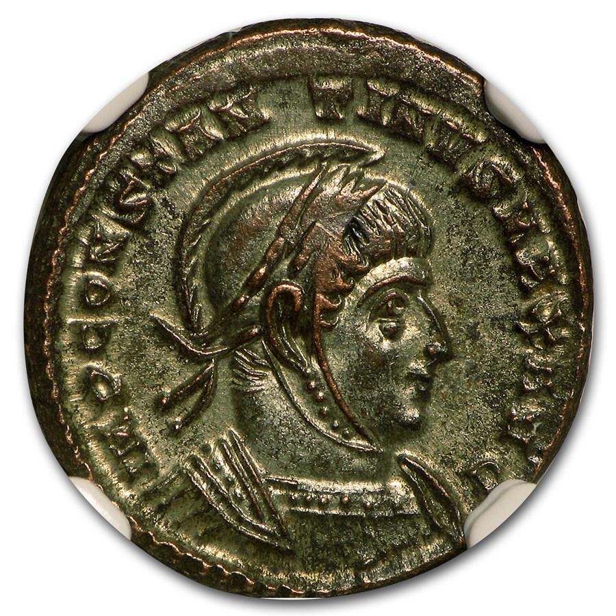 Roman Bronze AE3 Emperor Constantine I CH AU NGC (307-337 AD)