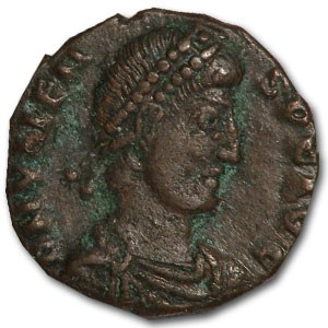 Roman Bronze AE3 Emperor Valens (364-378 AD)