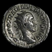 Roman Double Denarius Emp. Trajan Decius (249-251 AD) Ch VF NGC