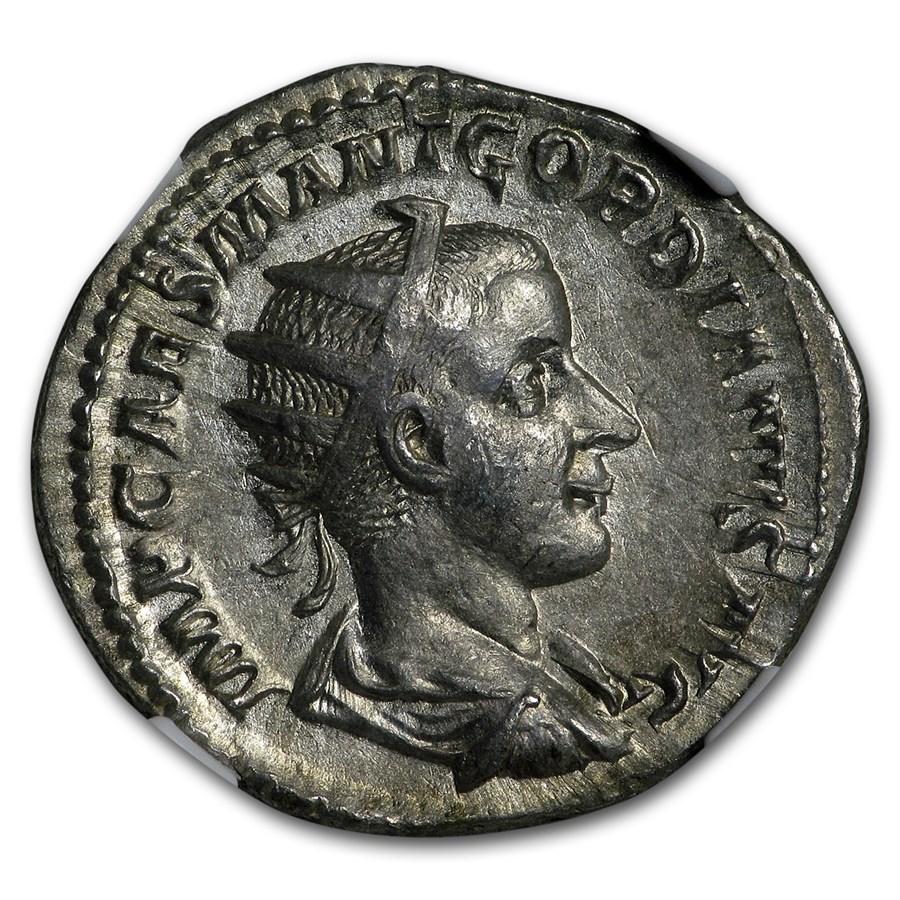 Roman Double Denarius Emperor Gordian III (238-244 AD) XF NGC