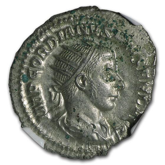Roman Double Denarius Emperor Gordian III NGC AU (238-244 AD)