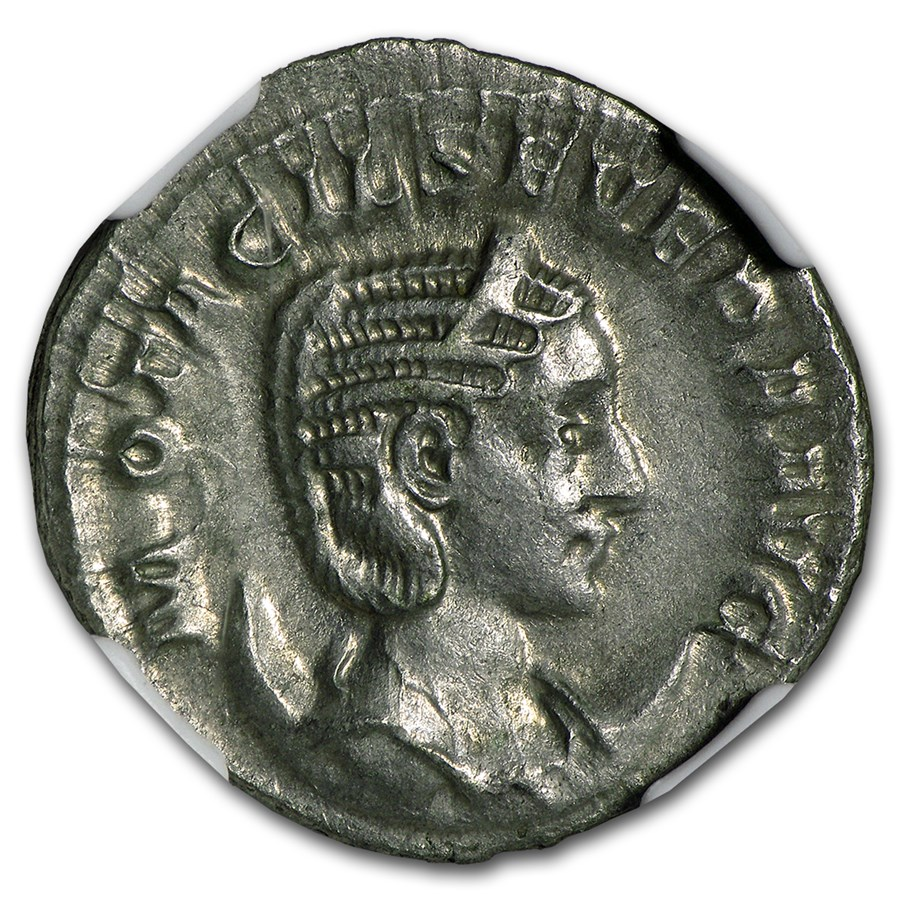 Roman Double Denarius Otacilia Severa NGC CH XF (244-249 AD)