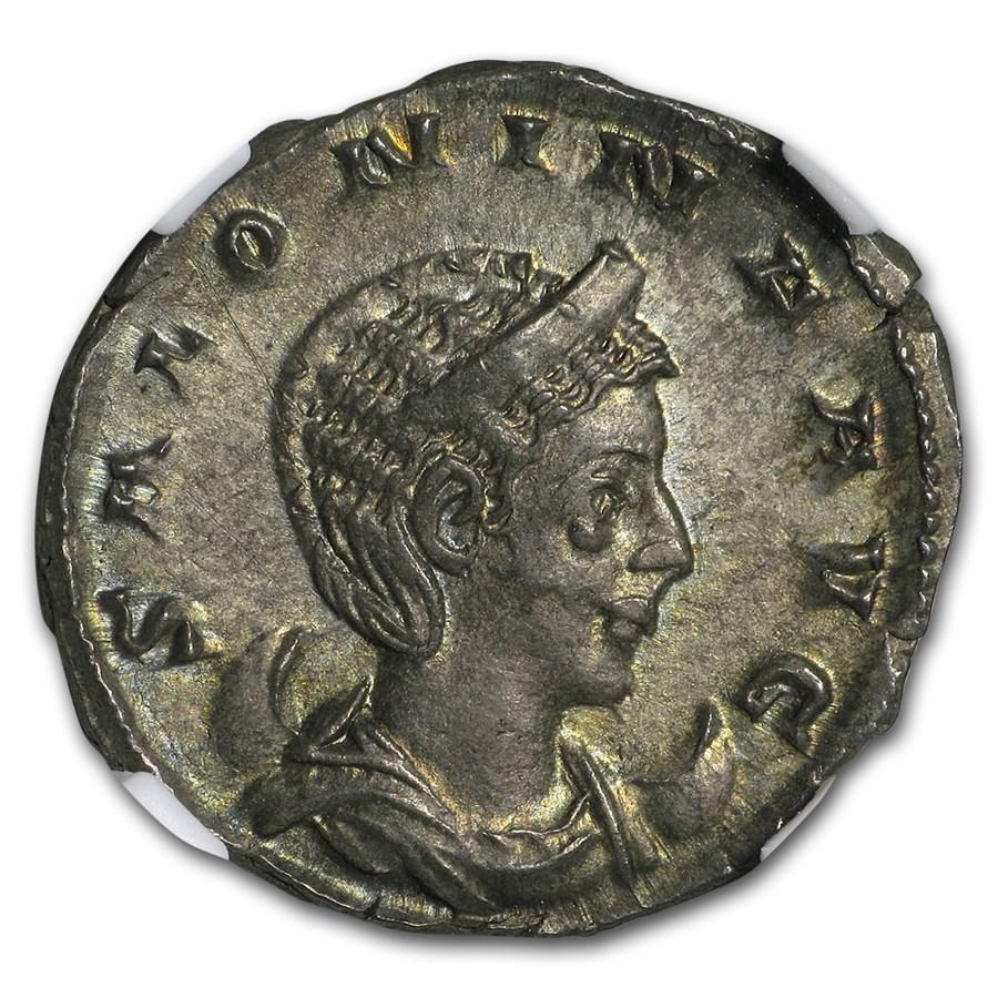 Roman Double Denarius Salonina (254-268 AD) AU NGC