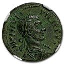 Roman Egypt AE 24 Emperor Phillip I (244-249 AD) Ch XF* NGC