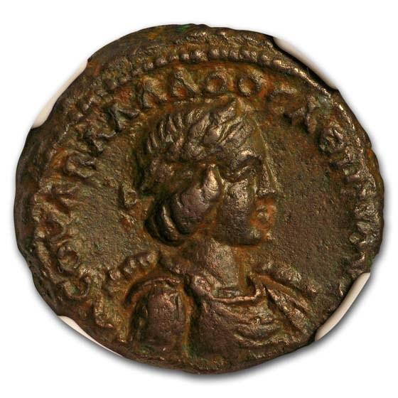 Roman Egypt BI Tetradrachm Emperor Aurelian (270/1 AD) XF NGC