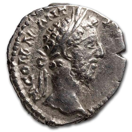 Roman Emp. AR Denarius Commodus (177-192 AD) Ch VF (RIC III 131)
