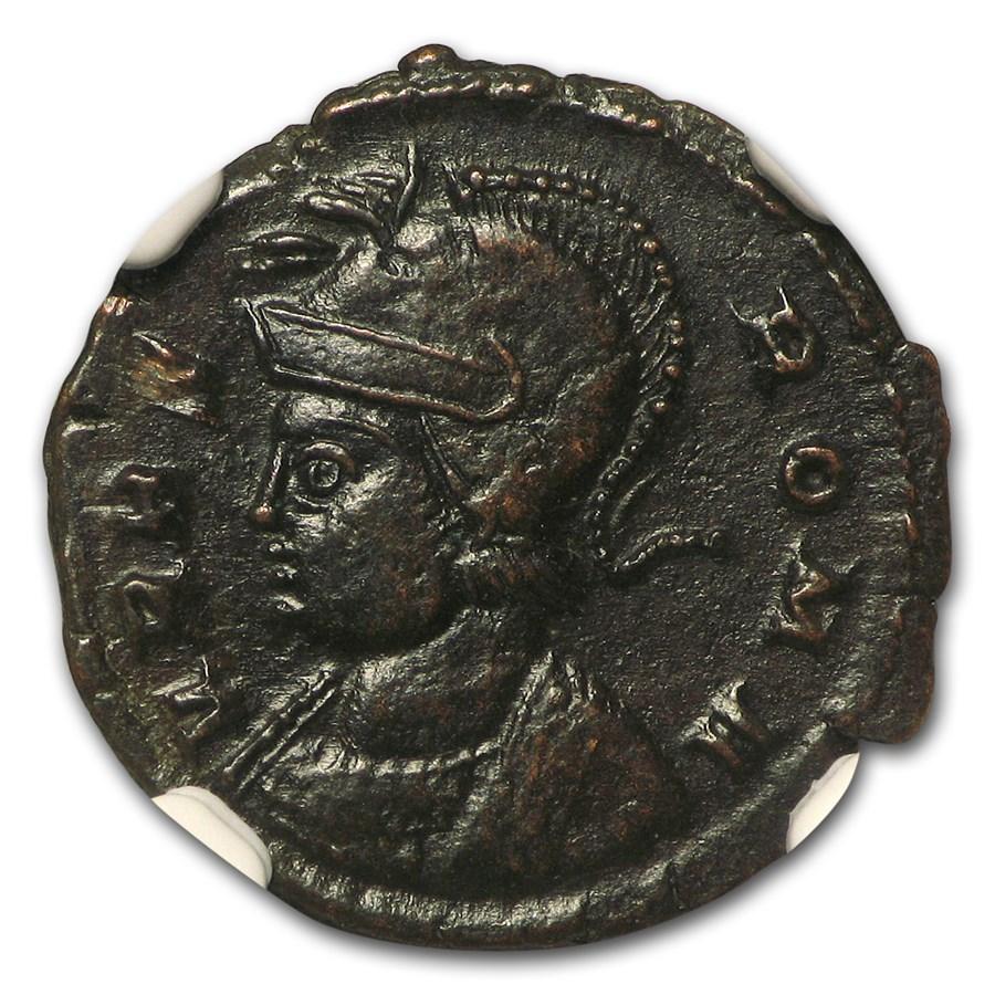Roman Emp Constantinian AE3/4 Nummus (330-340 AD) AU NGC