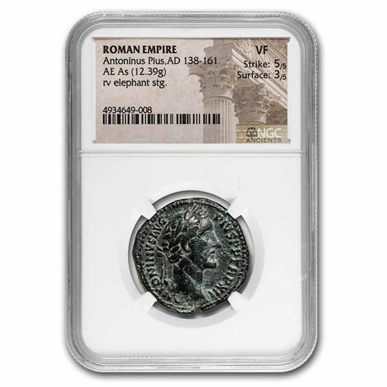 Roman Empire AE As Anton. Pius (138-161 AD) VF NGC (RIC III 862a)
