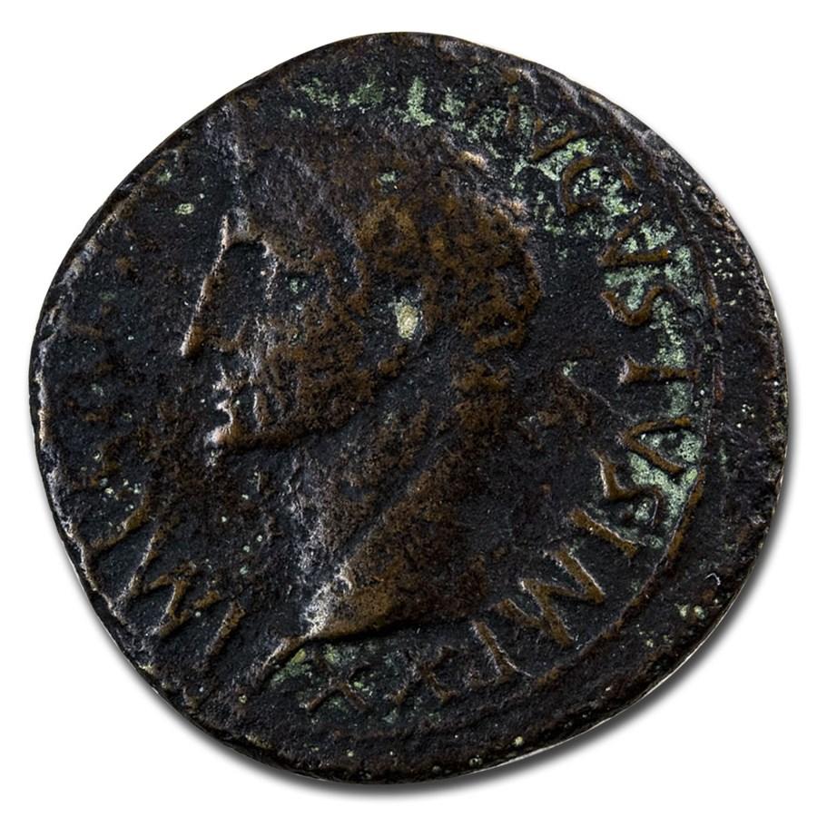 Roman Empire AE As Emp Augustus (15 BC) Fine (RIC I 389)