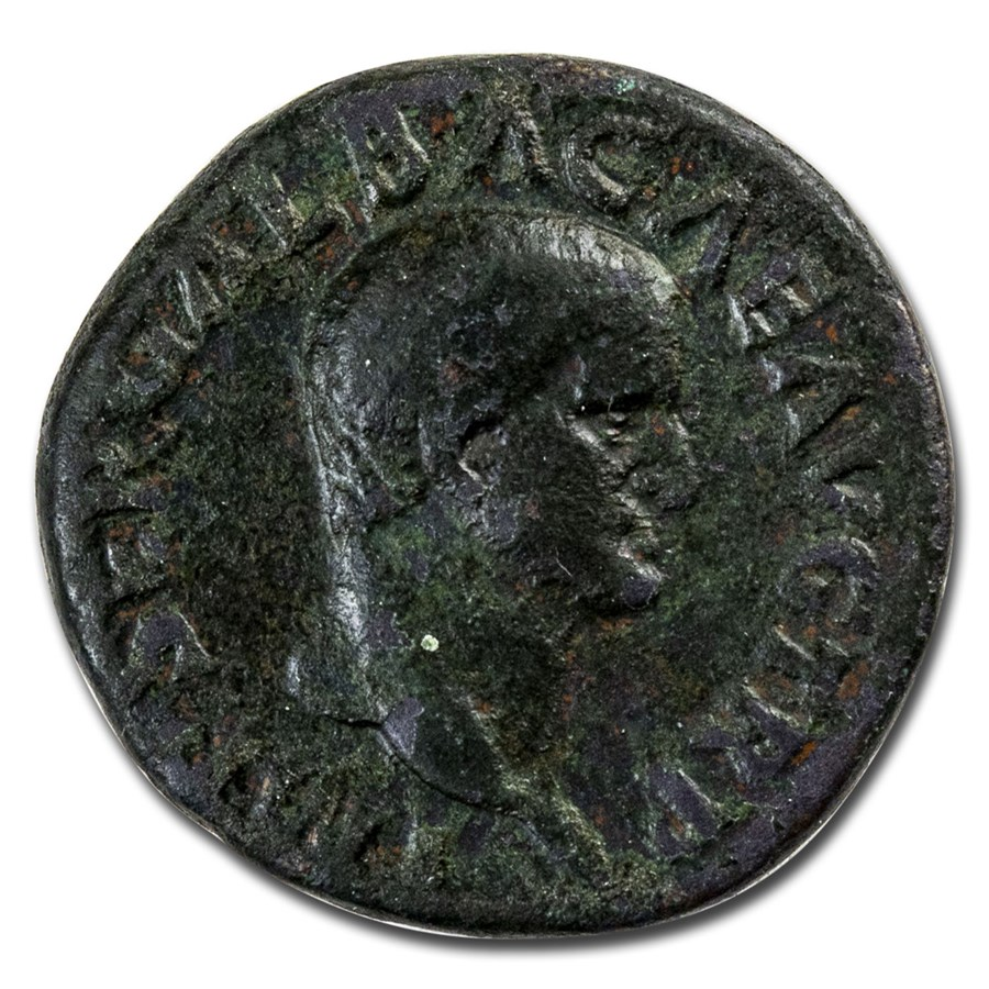 Roman Empire AE As Emp Galba (68 AD) Ch Fine (RIC I 328)