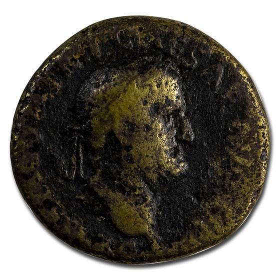 Roman Empire AE As Emp Galba (68 AD) VG (RIC I 496)