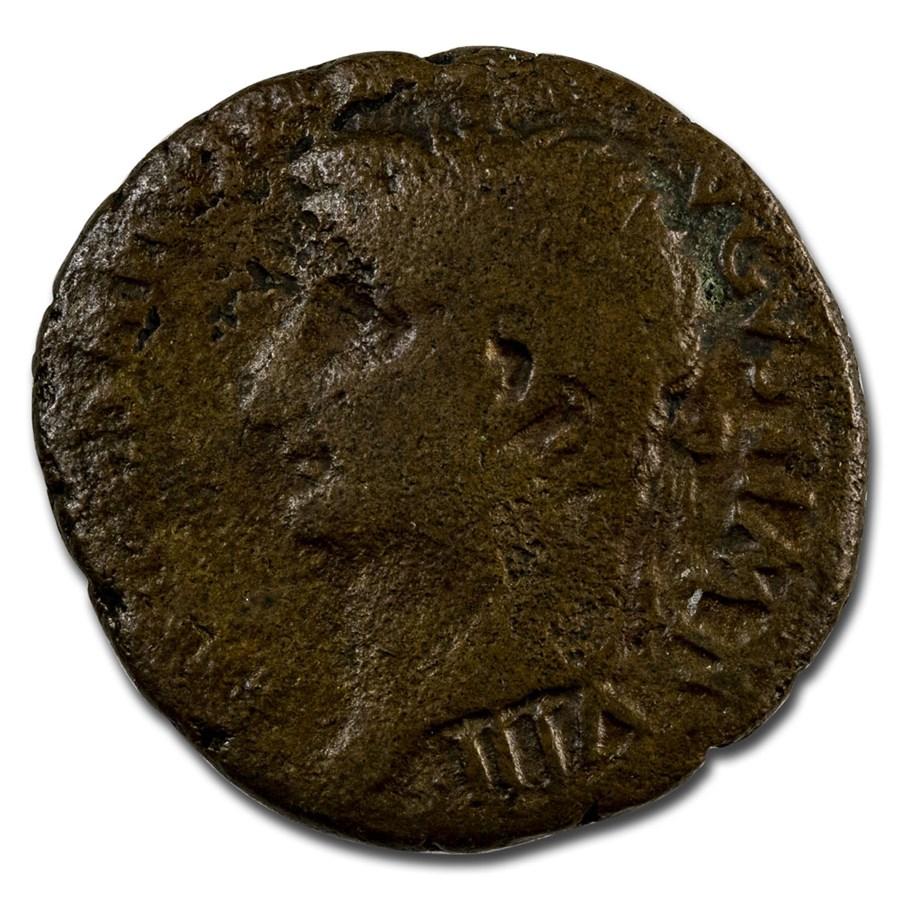 Roman Empire AE As Emp Tiberius (34-35 AD) Fine (RIC I 59)