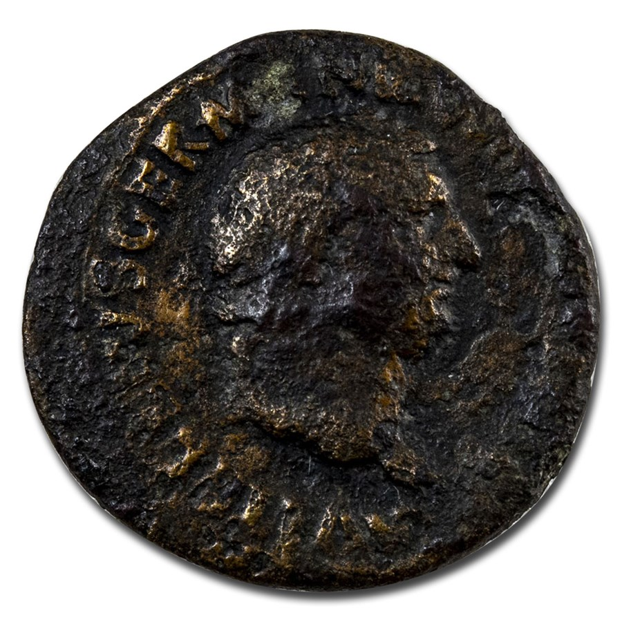Roman Empire AE As Emp Vitellius (69 AD) Fine (RIC I 129)