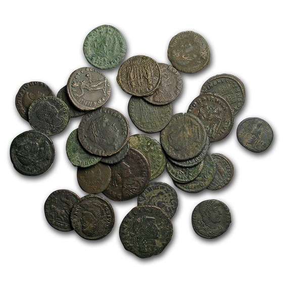 Roman Empire AE Bronze Successors of Constantine 320-423 AD VF-XF
