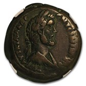 Roman Empire AE Drachm Antoninus Pius (138-161 AD) Ch VF* NGC
