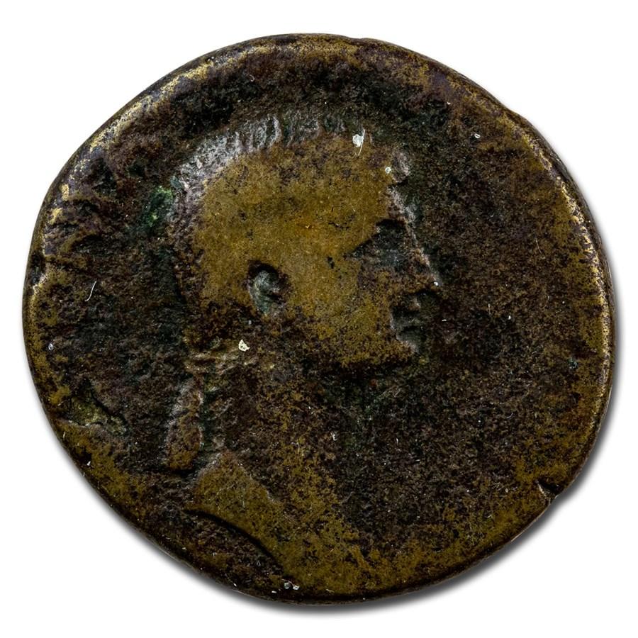 Roman Empire AE Dupondius Antonia Minor 41-42 AD VG (RIC I 92)