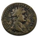 Roman Empire AE Dupondius Emp Domitian 88 AD Ch Fine (RIC II 623)