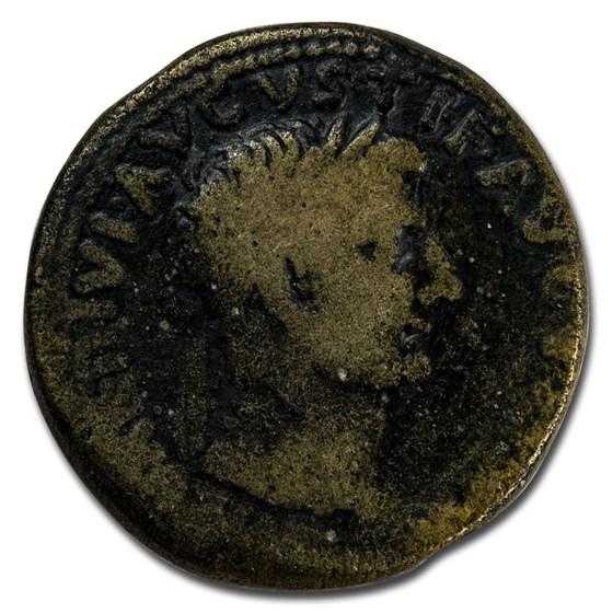 Roman Empire AE Dupondius Emp Tiberius 19-20 AD Fine (RIC I 90)