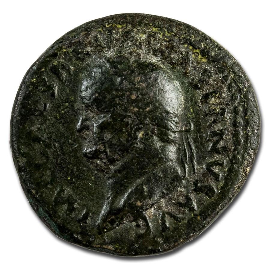 Roman Empire AE Dupondius Vespasian 74 AD AD Ch Fine (RIC II 756)